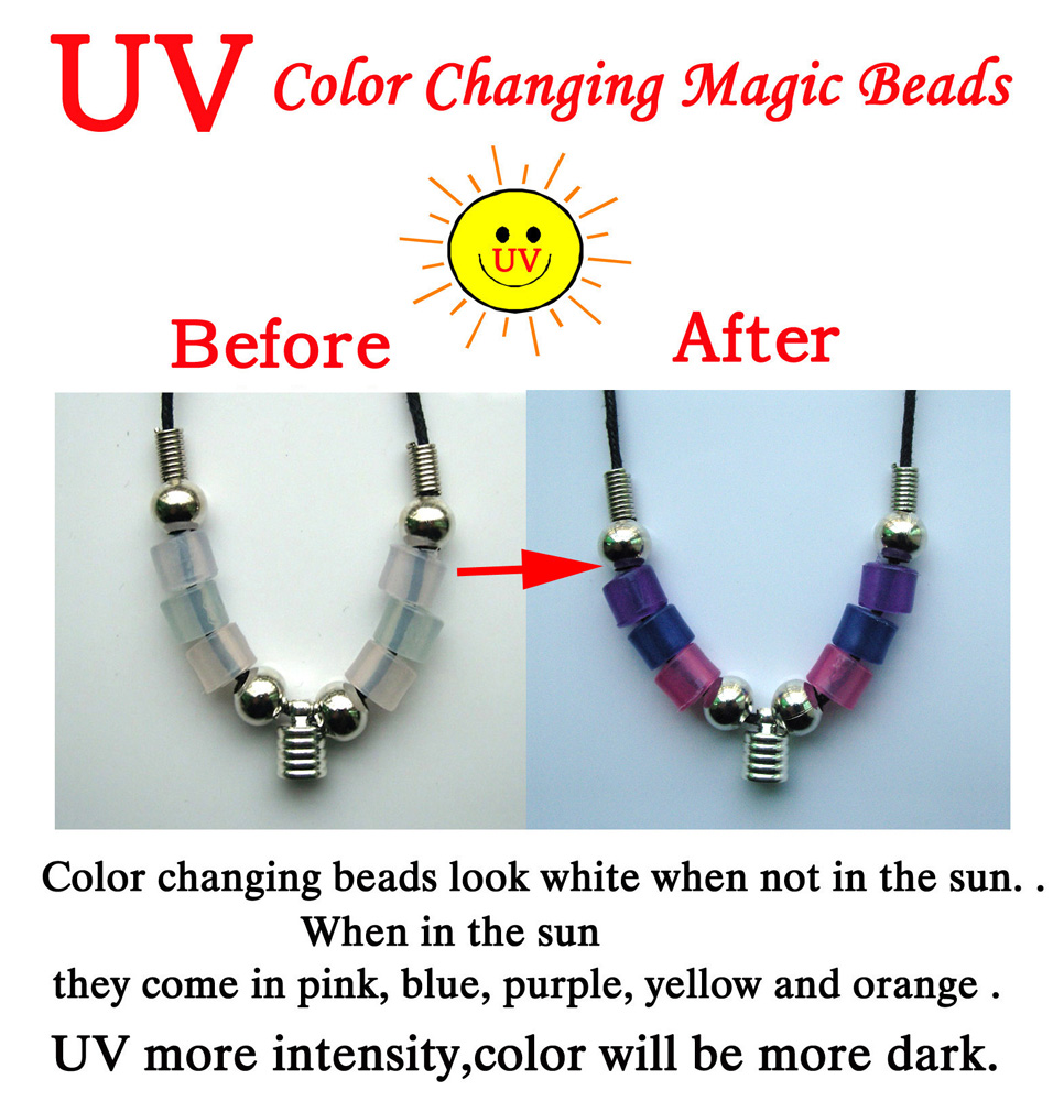 Premade Color Changing Magic Beads Necklaces(6MM Caps)