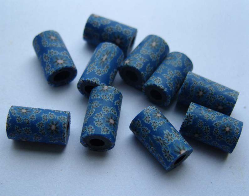 FIMO Tube Beads (sold in per package of 25 pcs)