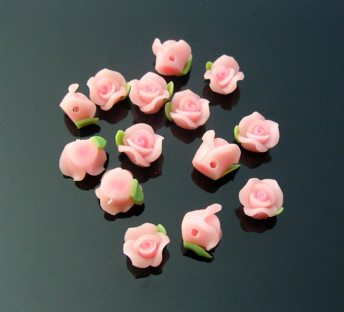 FIMO Flower Beads(sold in per package of 25 pcs)