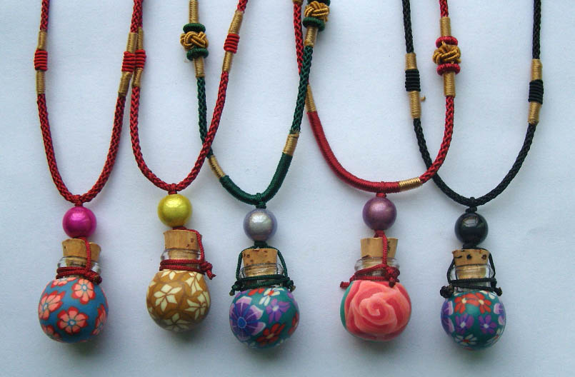 Fimo aroma necklaces assorted designs aroma vial jewelry magic fimo aroma necklaces assorted designs aloadofball Images