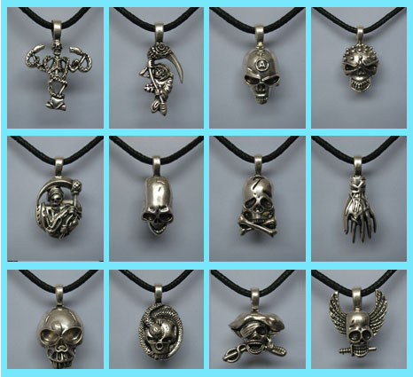 The Skull Pewter Kit(sold in per package of 12 pcs)