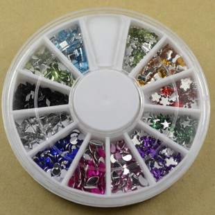 Glitter Rhinestone Nail Art Decoration (Sold in per package of 15 tray