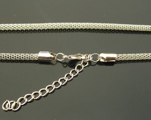 Adjustable Silver-plated Necklace Chain