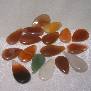 Tear Drop Gemstone Pendants For Carving (Assorted colors)