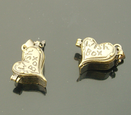 17x16MM Bronze Heart Wish Box