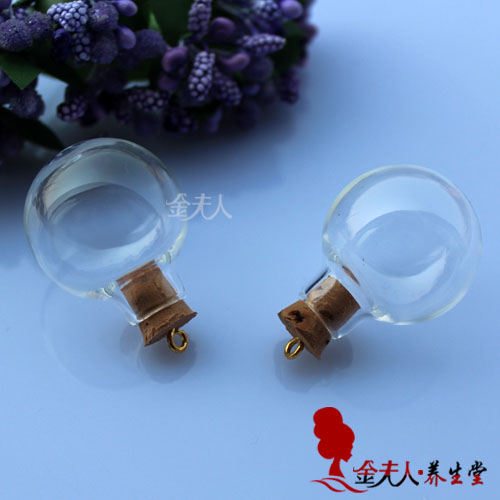 24.5MM Glass Ball With Ring Corks