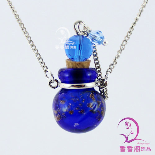 Native Ceramic Necklace Blue And White Ceramic Necklace