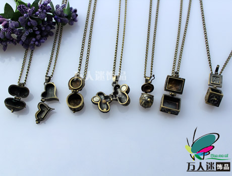 Perfume Locket Necklaces(Assorted Designs)