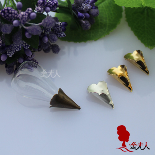 31X18MM Flat Bottom Tear Drop With Metal Cap