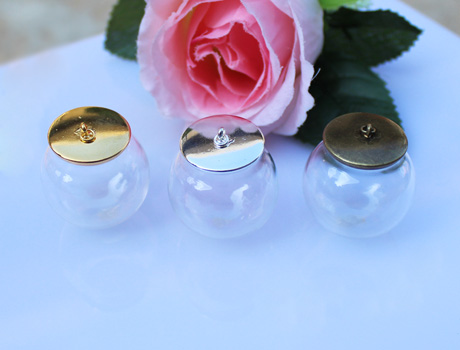 30MM 20MM Glass Globe Necklace Pendants