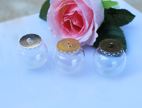 30MM 25MM Glass Globe Bottle Pendants
