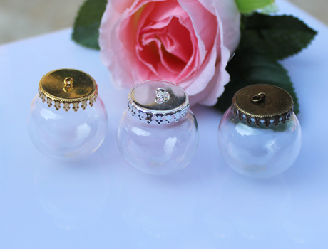 30MM 25MM Ball Glass Globe Bottle Pendants