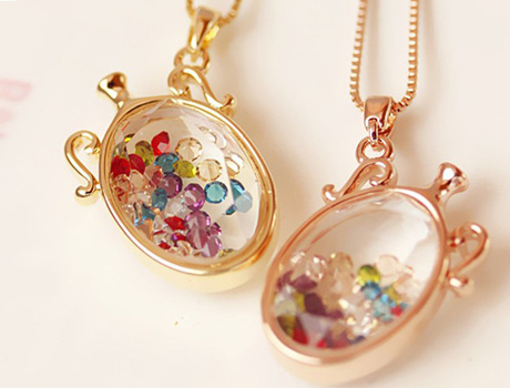 Ceramic Beaded Necklace Pendant Case Earring Ring Rice