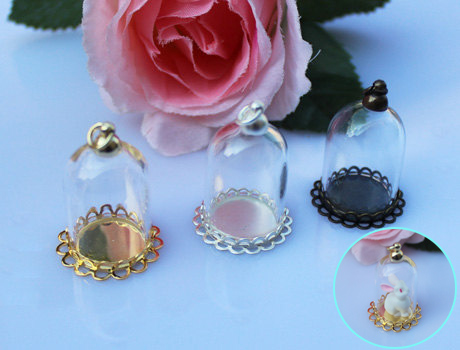 25x18MM/25X38MM Glass Globe Necklace Pendants