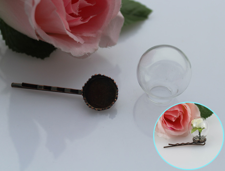 25MM Glass Ball Hair Pins