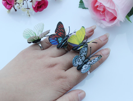 Butterfly Rings(Assorted Colors)