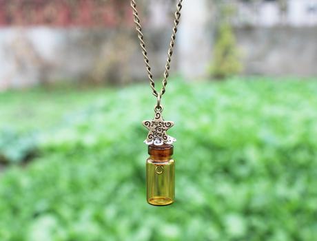 22x11mm Empty Bottle Necklace Glass Globe Necklace