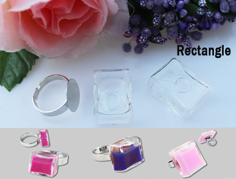 17X24MM Rectangle Liquid Rings