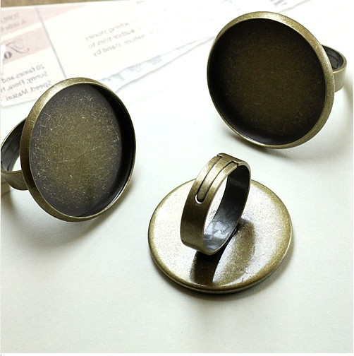 10-25MM adjustable brass bezel ring bases