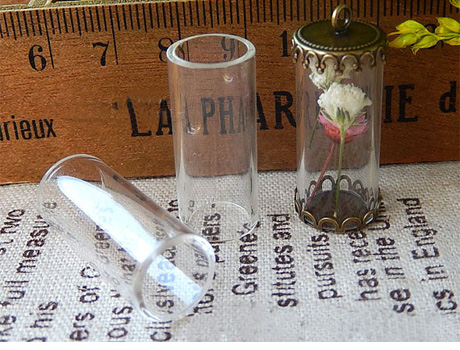 Perfume Bottle Charms Essential Necklaces Fragrance Bottle