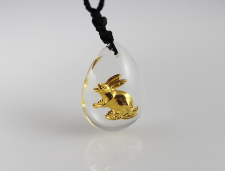 30X21MM Chinese Zodiac Necklace