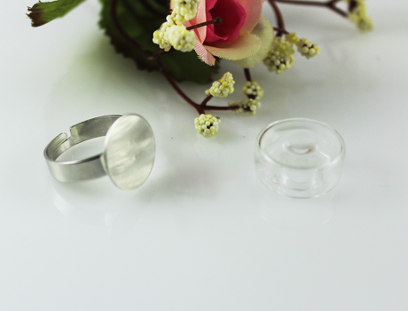 19MM Round Bubble Liquid Rings