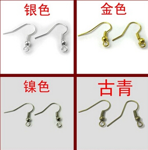 DIY Hook Earrings(sold in per package of 50pcs,2 Colors Available Silver,Bronze)