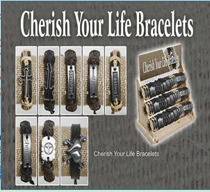 Cherish Your Life Bracelets(sold in per package of 8 pcs, assorted designs)