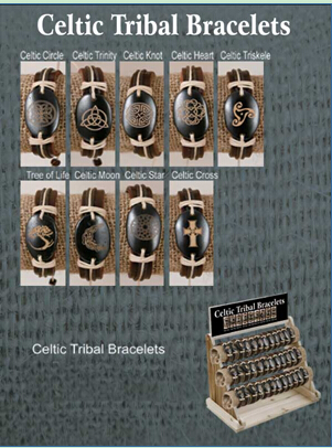 Celtic Tribal Bracelets(sold in per package of 9 pcs, assorted designs)