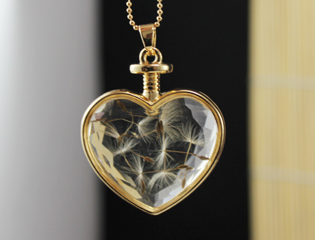 Dandelion Locket Necklace(3 Designs Available)