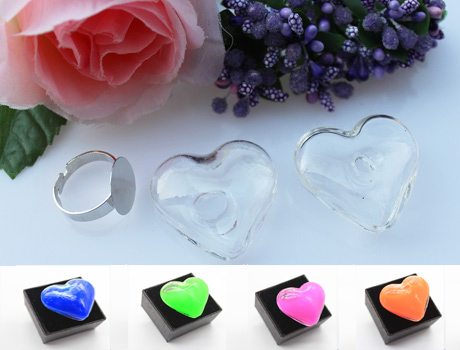 21X22MM/32X35MM Heart Liquid Rings