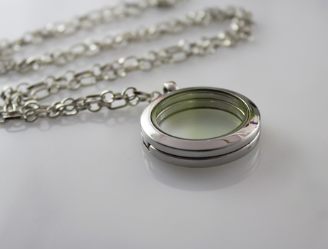 30MM Glass Locket Necklace