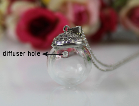 16MM Perfume Ball Necklace With Diffuser Hole
