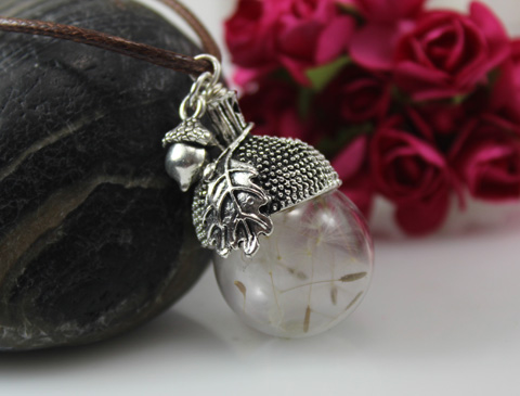 18MM/20MM Glass Ball Dandelion Seed Necklace