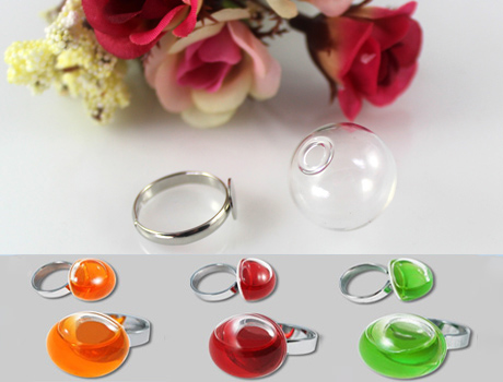 Brooches Finding Pendant Blank Tray Glass Perfume Atomizer Atomizers Murano Glass Essential Oil