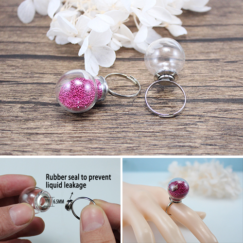 20MM Screw Glass Globe Ring (adjustable)