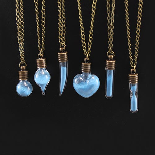 6MM Glass Vials Glowing necklace