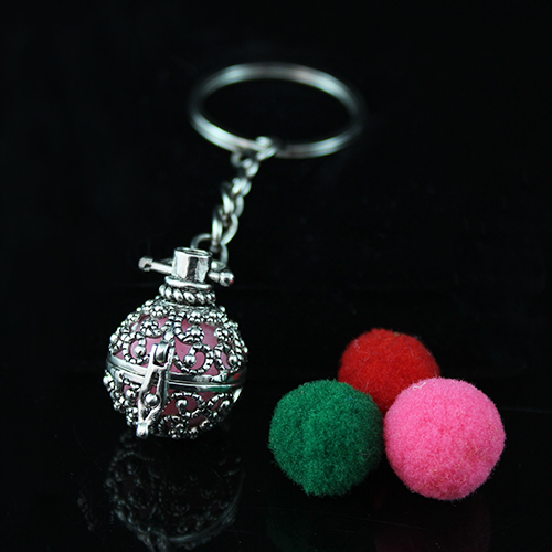 24x22MM Ball Diffuser Locket keychain