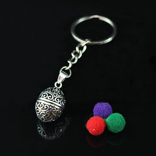 18x11MM  Egg Shaped Diffuser Locket keychain