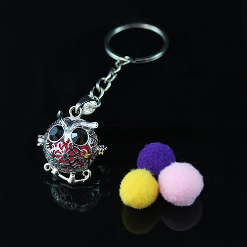 22x13MM Owl  Diffuser Locket keychain