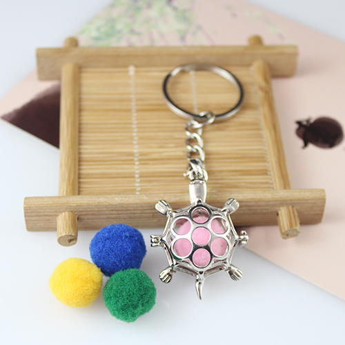 38x27MM Turtle Diffuser Locket keychain