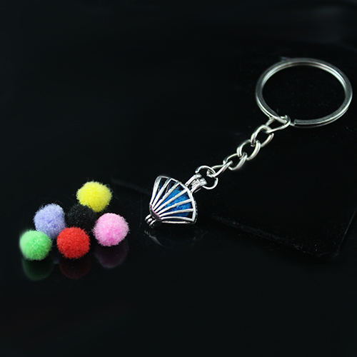 22x13MM Shell Diffuser Locket keychain