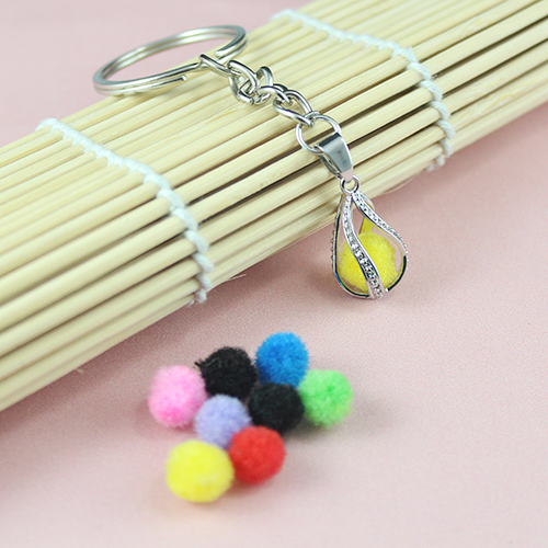 16x7MM Tear Drop  Diffuser Locket keychain