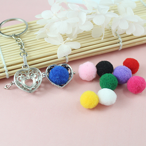 23x21MM Heart Diffuser Locket keychain