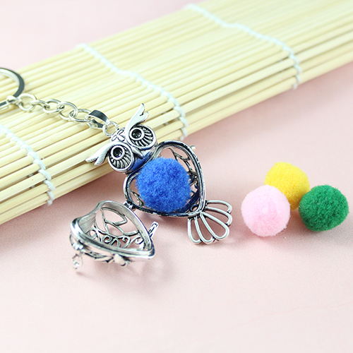 51x29MM Owl Diffuser Locket keychain