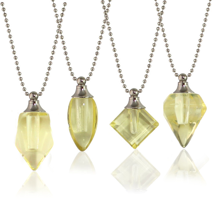 Yellow Vials with Necklace Chain